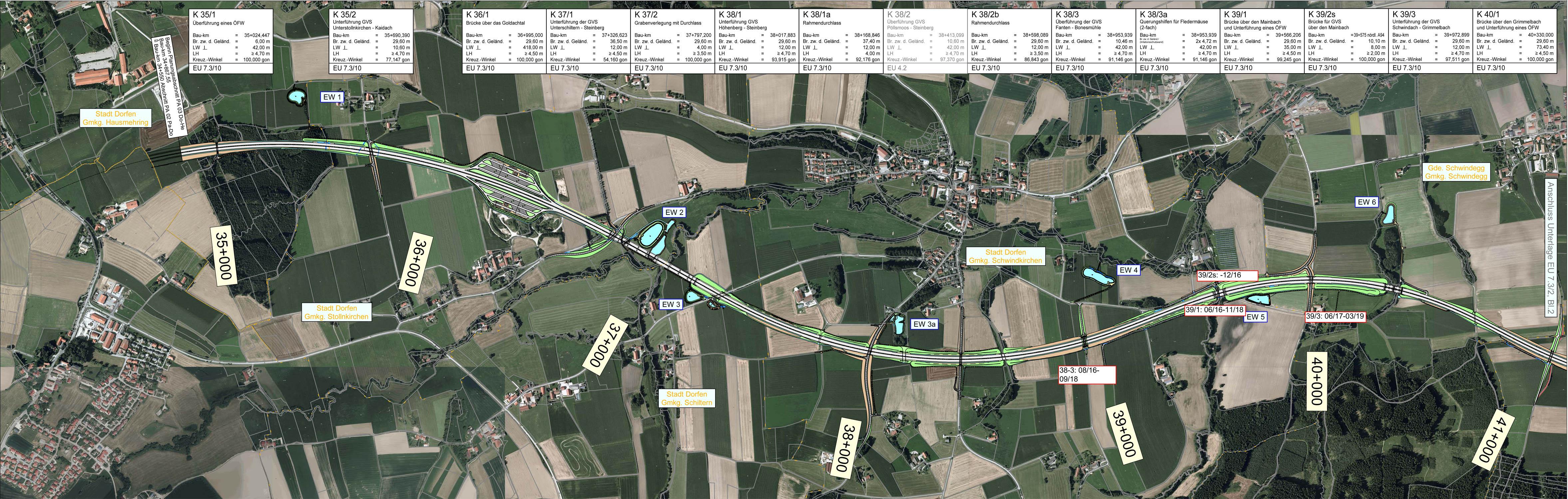 Übersichtslageplan Stadt Dorfen – Schwindegg