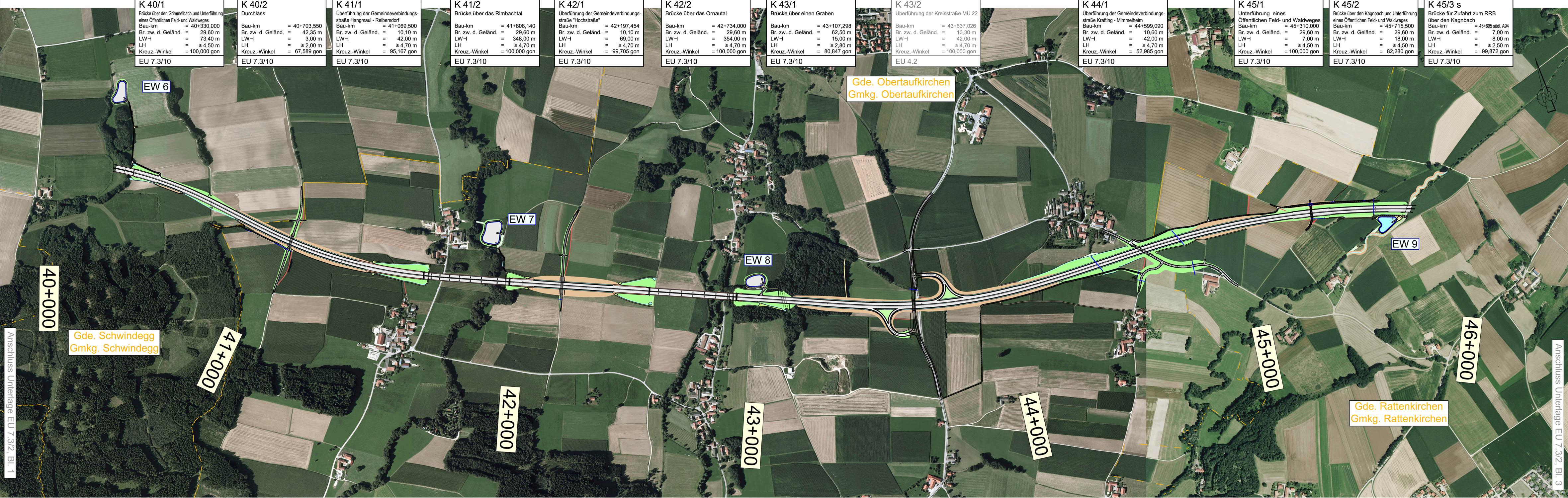 Übersichtslageplan Schwindegg – Rattenkirchen