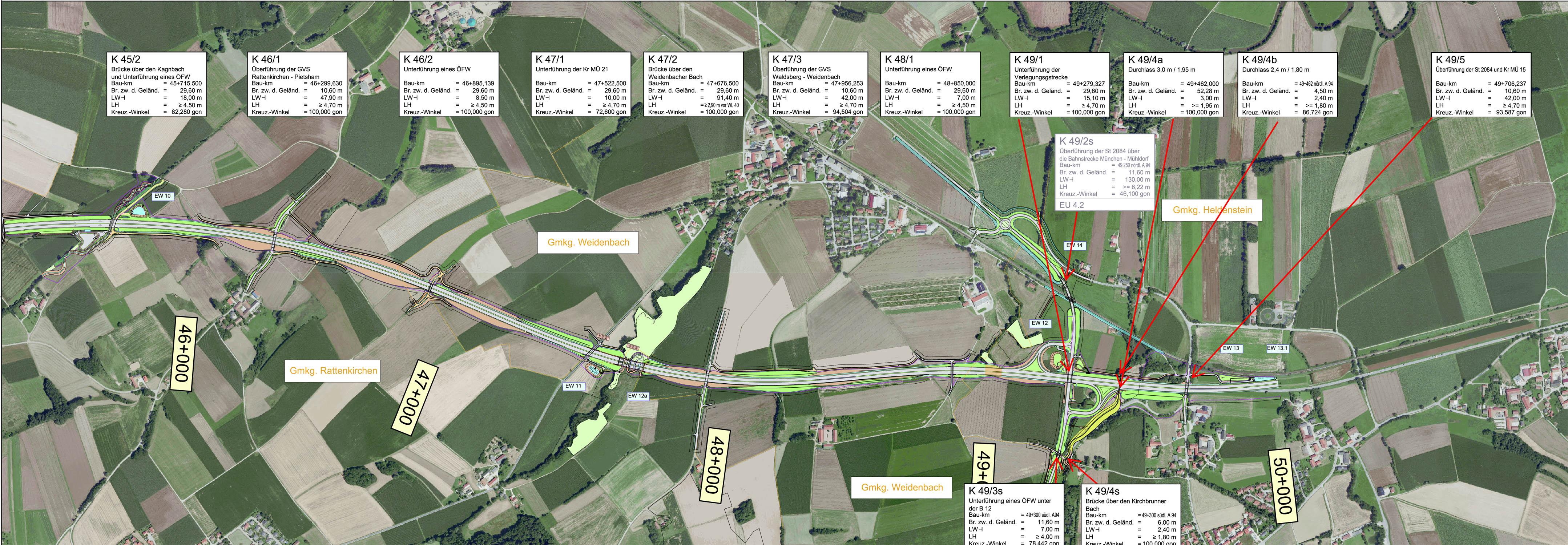 Übersichtslageplan Rattenkirchen – Heldenstein