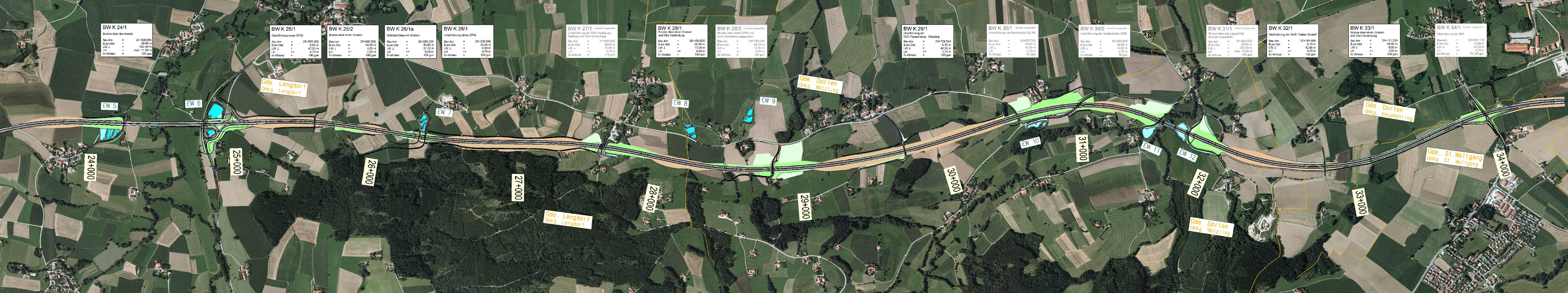 Übersichtslageplan Lengdorf – Stadt Dorfen